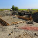 Construction in the Yolo Bypass Wildlife Area.